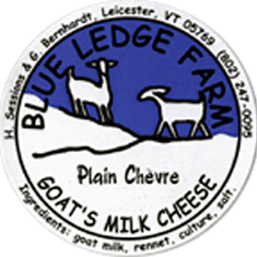 blue ledge farm plain chevre cheese