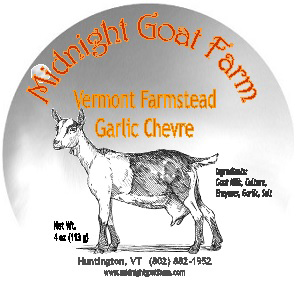 midnight goat farm garlic chevre cheese