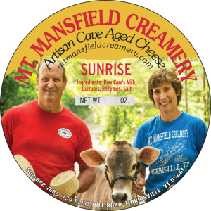 mt. mansfield creamery sunrise cheese
