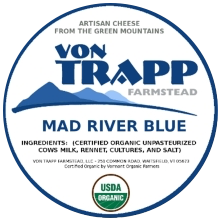 von trapp farmstead mad river blue cheese