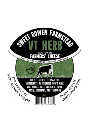 sweet rowen farmstead vt herb cheese
