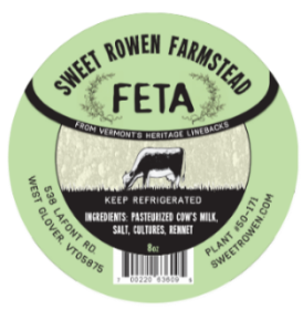 sweet rowen farmstead feta cheese